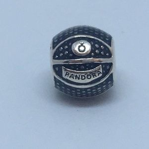 New Pandora sterling silver charm basketball charm